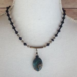 Jewelry - turquoise quartz stone necklace